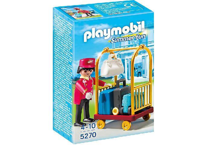 Playmobil-Portar cu carucior de bagaje,hotel