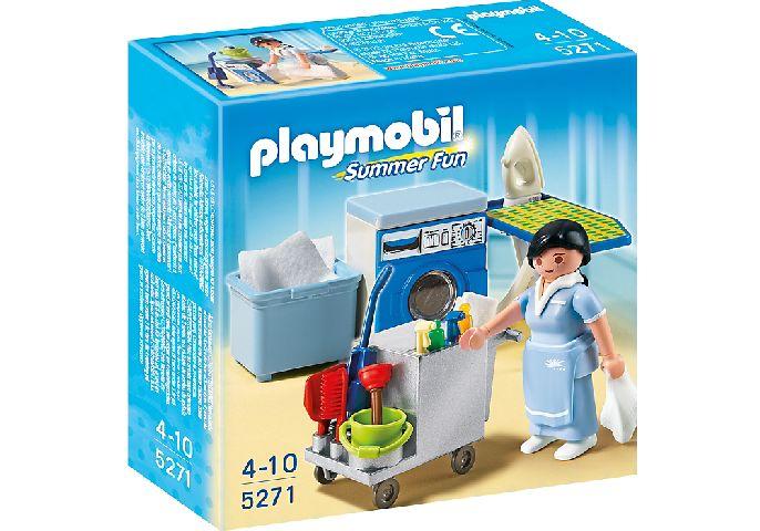 Playmobil-Camerista cu accesorii curatenie