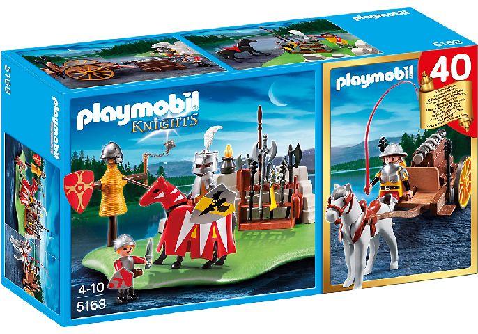 Playmobil-Aniversar,Cavaler turn.cu tun