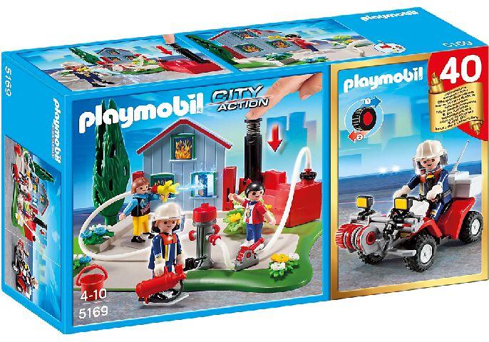 Playmobil-Brigada de pompieri si quad