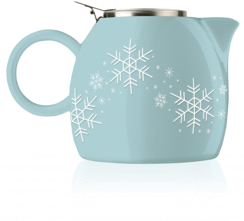 Ceainic ceramic si infuzor,Snowflake