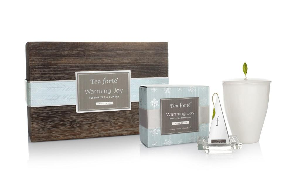 Set cadou:cana alba,ceai si tavita,Warming Joy