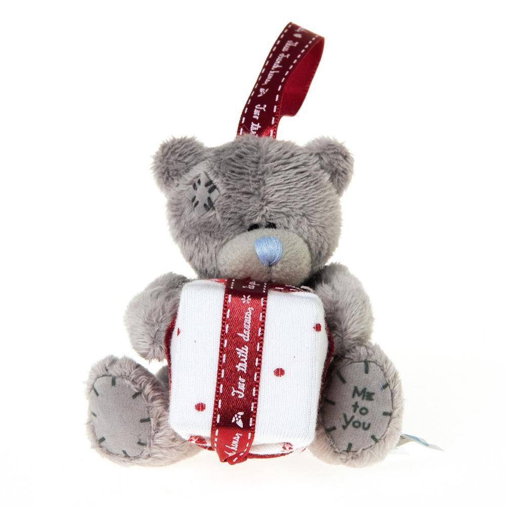 Decoratiune pom, plus 3in, urs cu cadou