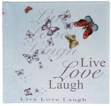 Agenda 16.5x16.5cm,48f,velin,Live Love Laugh