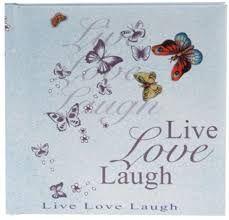 Agenda 16.5x16.5cm,48f,velin,Live Love Laugh