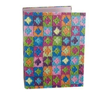 Biblioraft A4,8cm,Granny Squares,culori vii