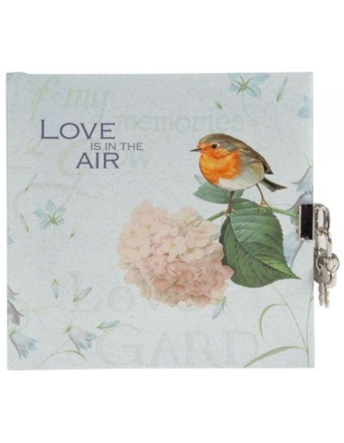 Jurnal 16.5x16.5cm,48f,velin,Love is in the air