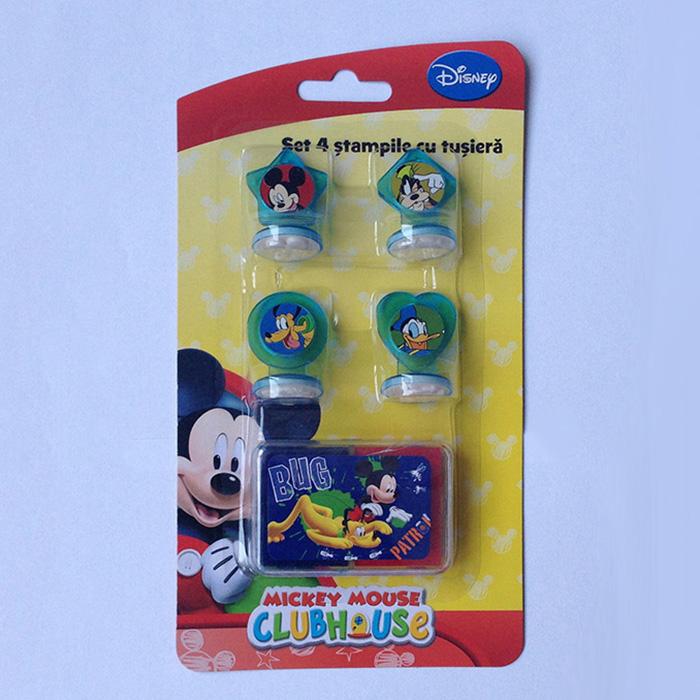 Stampile 4buc/set+tusiera,Mickey