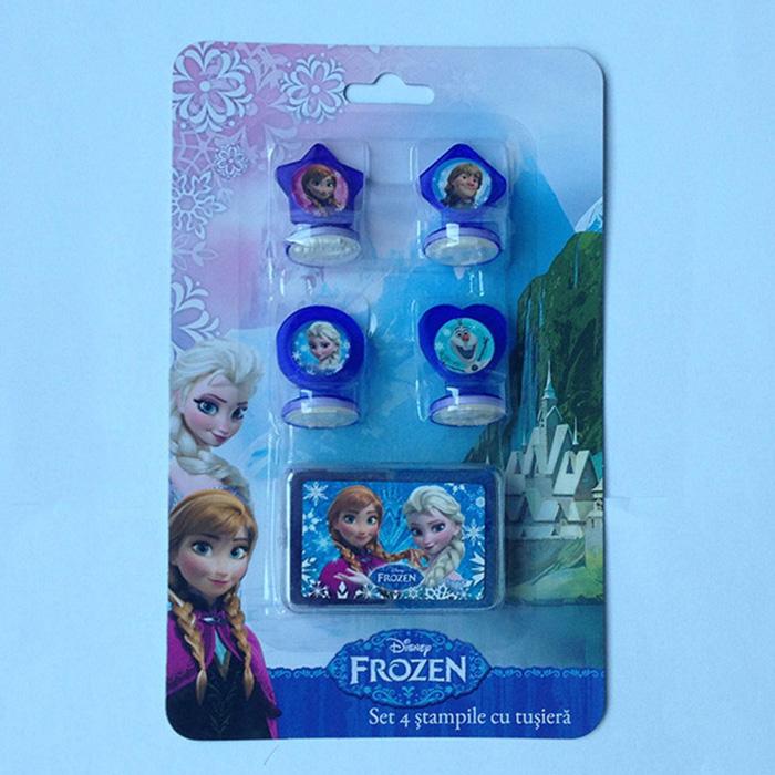 Stampile 4buc/set+tusiera,Frozen