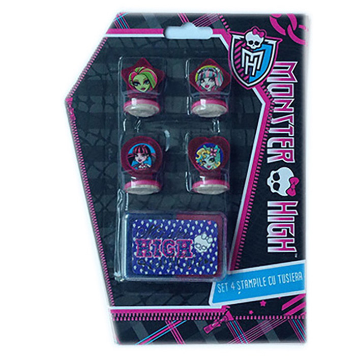 Stampile 4buc/set+tusiera,Monster High