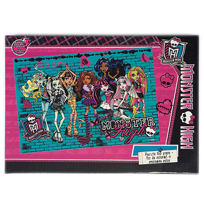 Puzzle 100pcs,coloriaj,Monster High