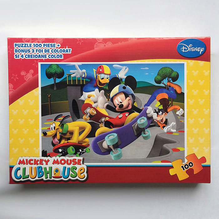 Puzzle 100pcs,coloriaj,Mickey