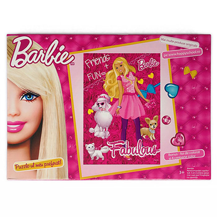 Puzzle 100pcs,coloriaj,Barbie