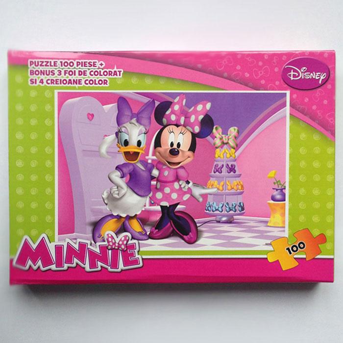 Puzzle 100pcs,coloriaj,Minnie