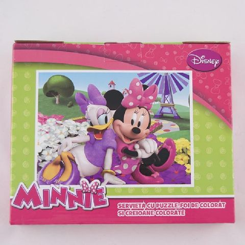 Puzzle 100pcs,coloriaj,servieta,Minnie