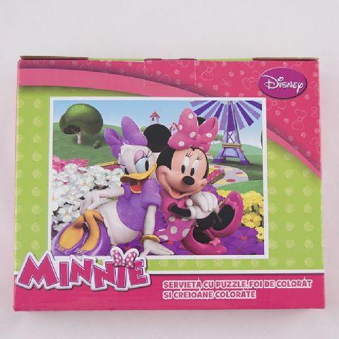 Puzzle 100pcs,coloriaj,servieta,Minnie