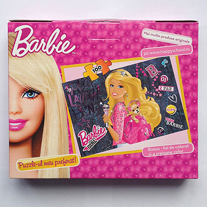 Puzzle 100pcs,coloriaj,servieta,Barbie