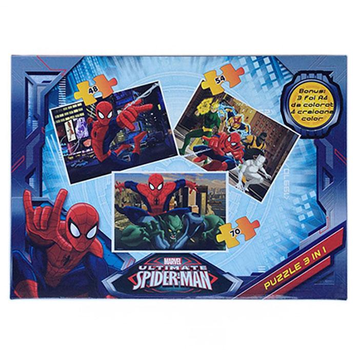 Puzzle 3buc/set,coloriaj,Spiderman