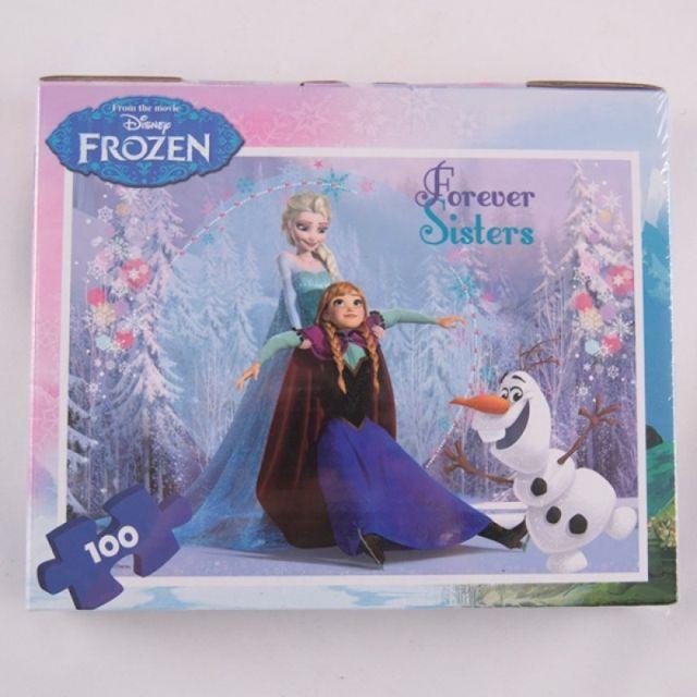 Puzzle 100pcs,coloriaj,servieta,Frozen