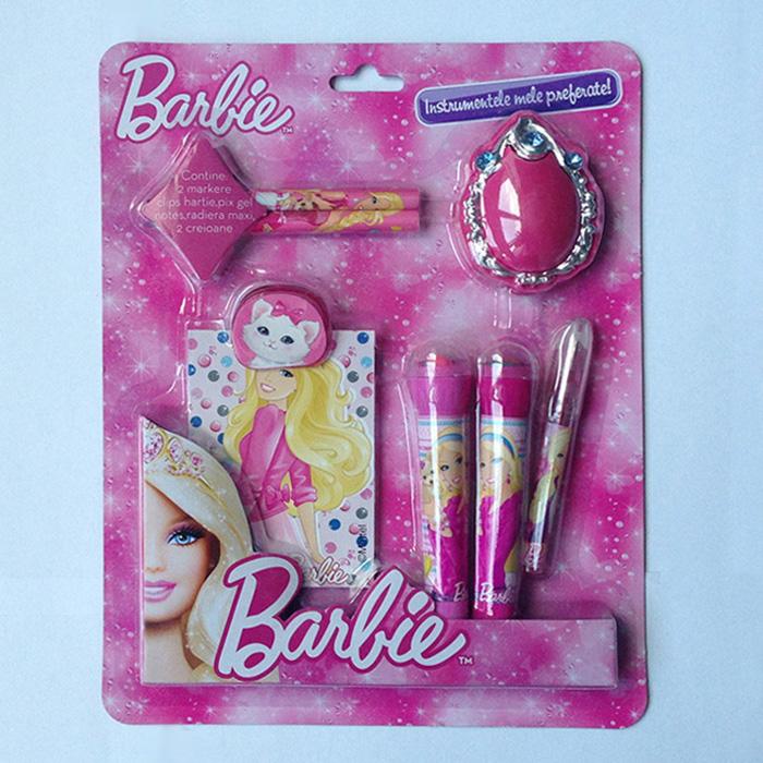 Set instrumente cu notes,7piese,Barbie