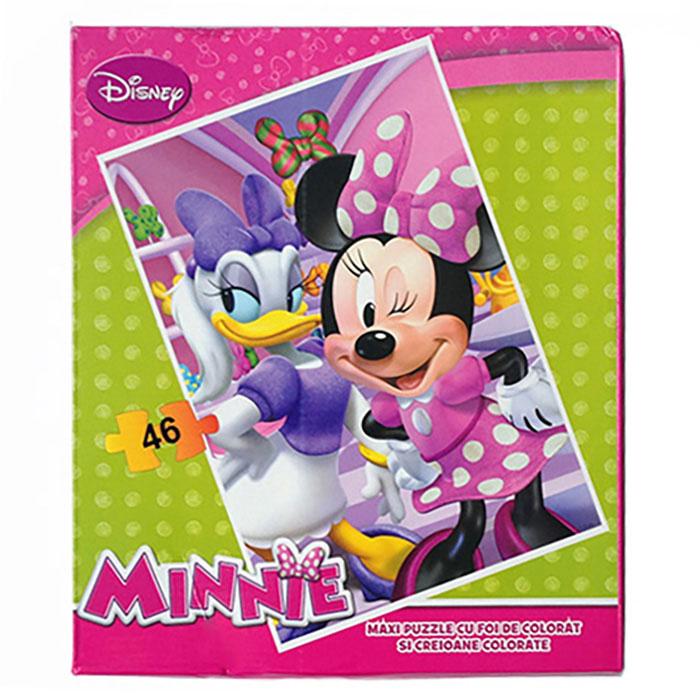 Puzzle gigant,coloriaj,Minnie