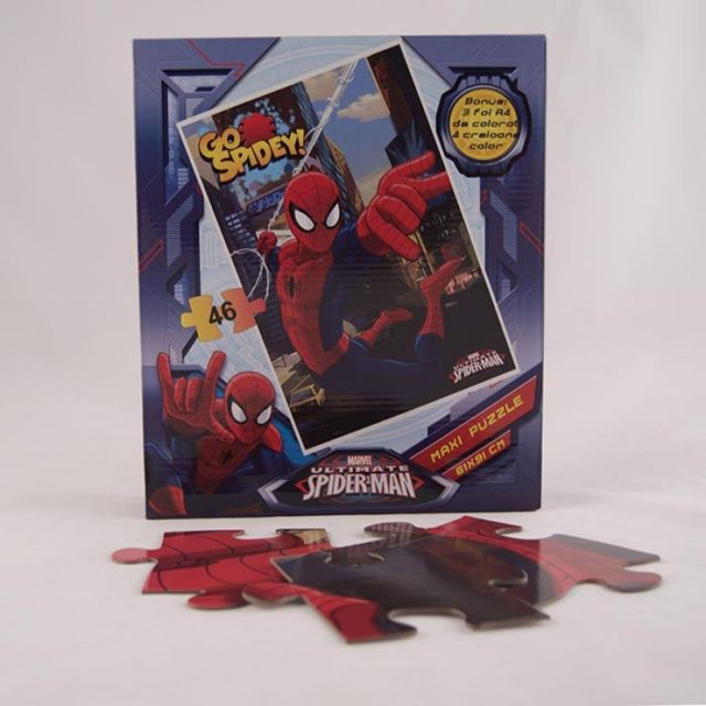 Puzzle gigant,coloriaj,Spiderman