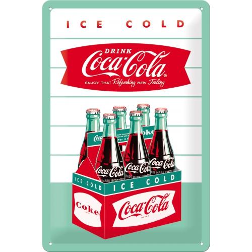 Placa 20x30 Coca-Cola - Diner Sixpack
