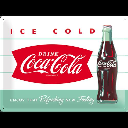 Placa 30x40 Coca-Cola - Diner Bottle