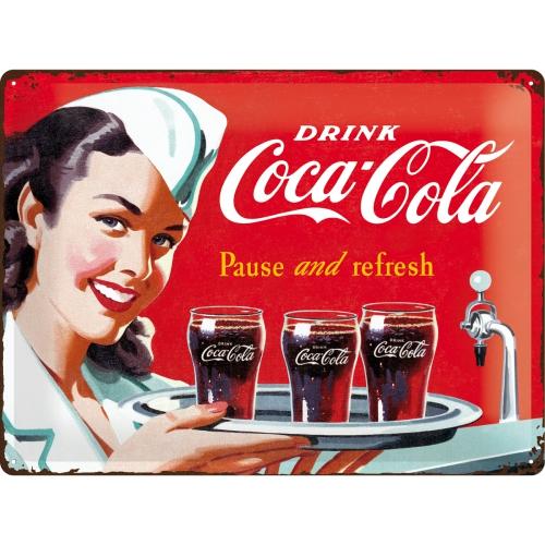 Placa 30x40 Coca-Cola - Waitress