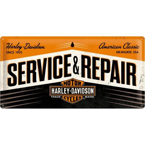 Placa 25x50 Harley-Davidson Service & Repair