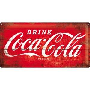 Placa 25x50 Coca-Cola - Logo Red
