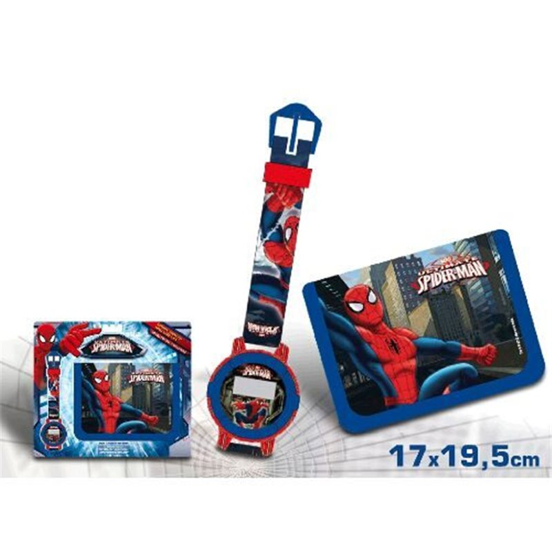 Set ceas mana+portofel,Spiderman