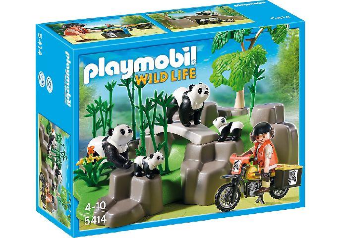 Playmobil-Ursi panda in padure