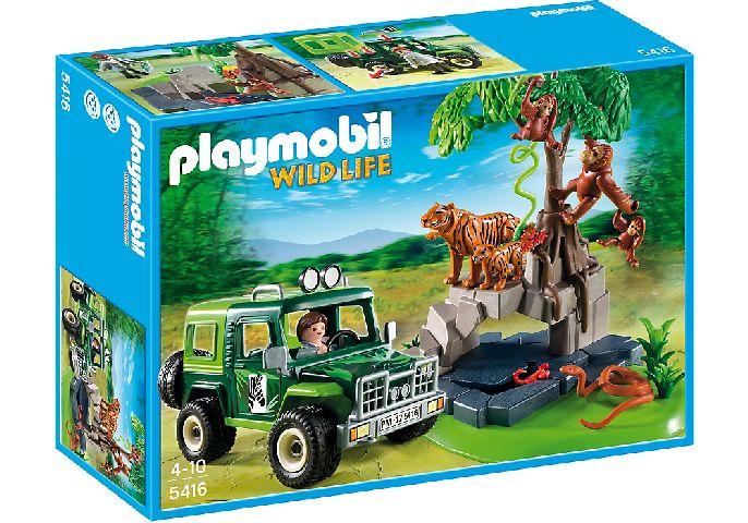 Playmobil-Animalele junglei si cercetator