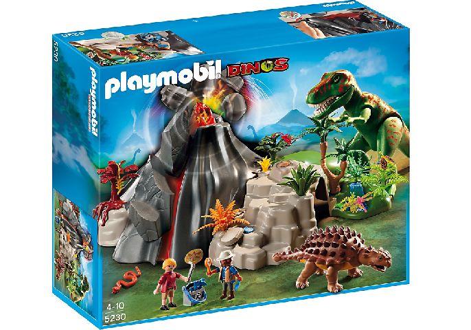 Playmobil-Vulcan si tiranozaur