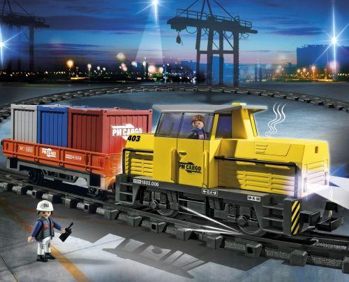 Playmobil-Tren de marfa cu telecomanda