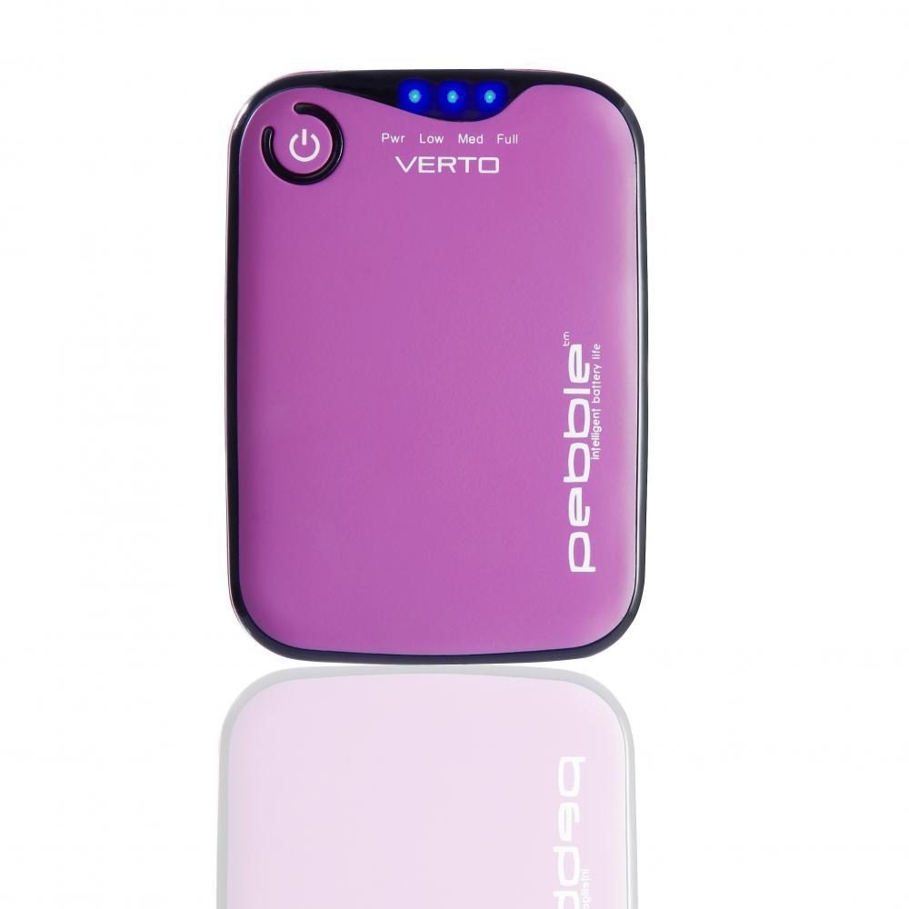 Pebble, baterie portabila, 3700mah, roz