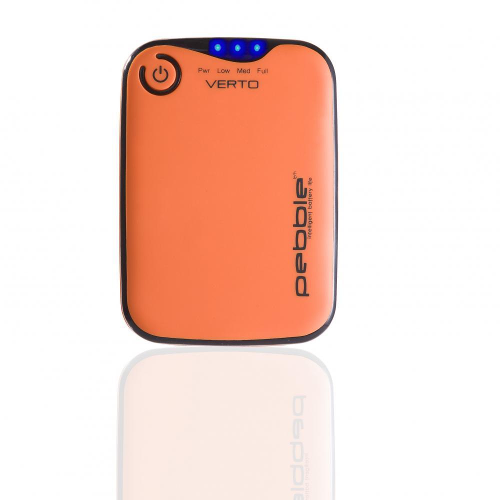 Pebble, baterie portabila, 3700mah, portocaliu