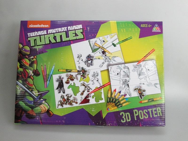 Set desenTestoasele Ninja,poster 3D