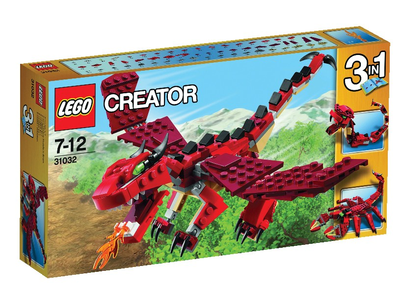 Lego-Creator,Creaturi rosii
