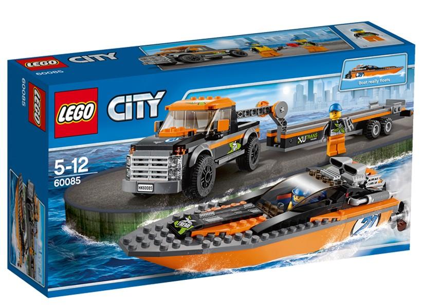 Lego-City,4x4 cu barca motorizata