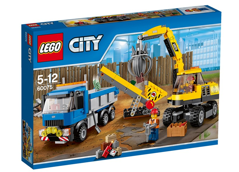 Lego-City,Excavator si camion