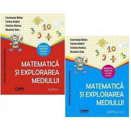 MANUAL CLS. A II-A MATEMATICA SI EXPLORAREA MEDIULUI + CD (2 VOL)