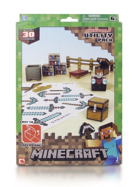 Minecraft Papercraft Figure Set Utility Pack