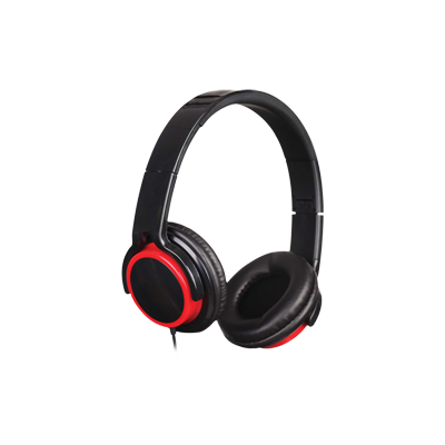 CASCA SPACER. cu microfon pe fir, stereo, jack 3.5mm, red & black