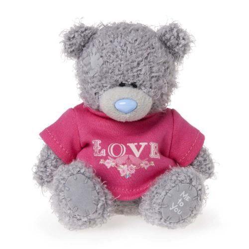 Plus Mty 4In, Urs cu tricou - Love