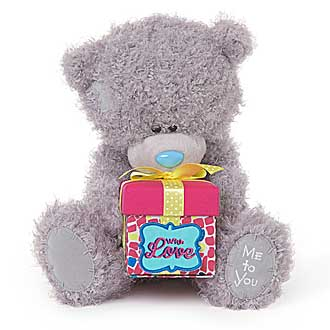 Plus Mty 10In, Urs cu cutie de cadou