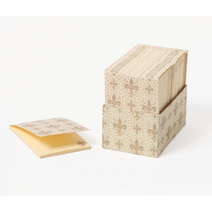 Bloc-notes decorat cu fir de aur LILIUM 8.5x12.5cm