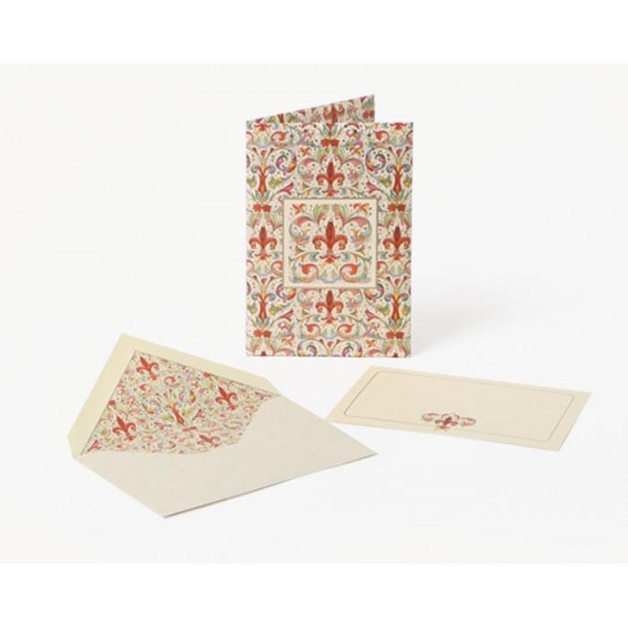 Set 10 plicuri si cartonase cu fir aur GIGLIO, 10x15cm