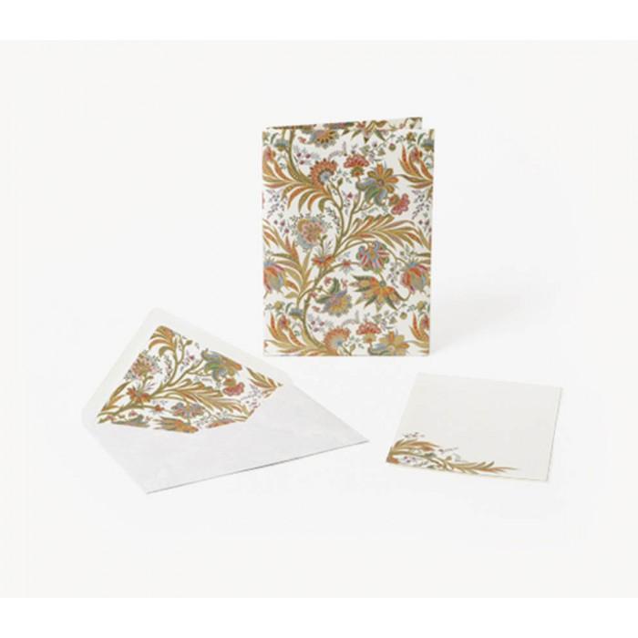Set 10 plicuri si cartonase cu fir aur CIPRO, 10x15cm